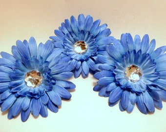 Blue 4 inch Gerber Daisy(set of 3)was 2.10
