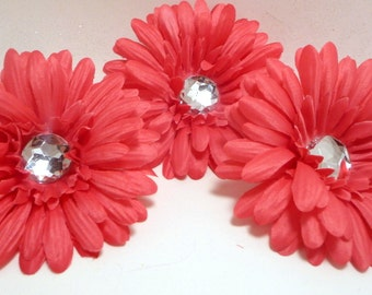 Bright  Pink 4 inch Gerber Daisy(set of 3)was 2.10