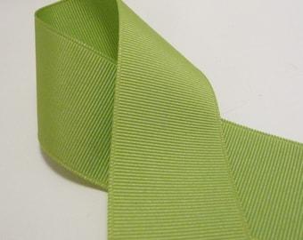 3 Yards Lime Green 1.5 inch Grosgrain Ribbon