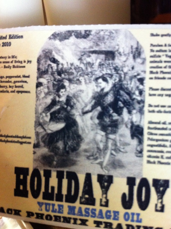 Holiday Joy Massage Oil 4oz by Black Phoenix Alchemy Lab and Trading Post