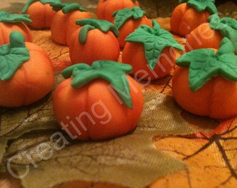 36 Edible Fondant 3D Pumpkin for Standard Cupcakesgreat for cupcake decorations, cookies or cakes