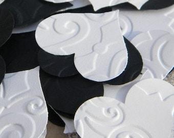250+ paper hearts - little paper hearts - heart confetti - wedding confetti - cardstock hearts - embossed hearts - paper heart confetti