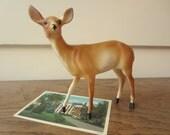 DEAR DEER.  Vintage plastic deer.  Cake topper.