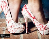 Victim Hand Painted Blood Spatter High Heel - As seen on The TODAY Show