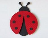 Ladybug Wall Decor Childrens Wall Decor Customized Matted Art Nursery Decor Cute Ladybug