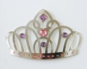 Princess Decor Crown Princess Tiara Girls Decor Fairy Tale Decor Royal Childrens Wall Decor Pink Purple Silver Art - WallDuds