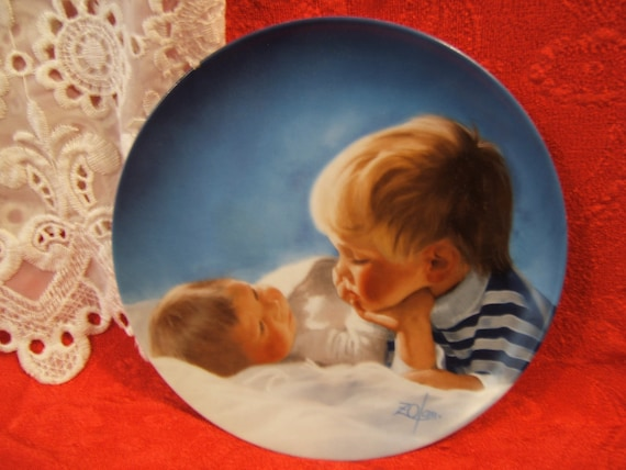Brotherly Love plate by Donald Zolan, from the Special Moments Collection, 1987
