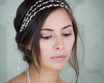 Headband Tess triple white