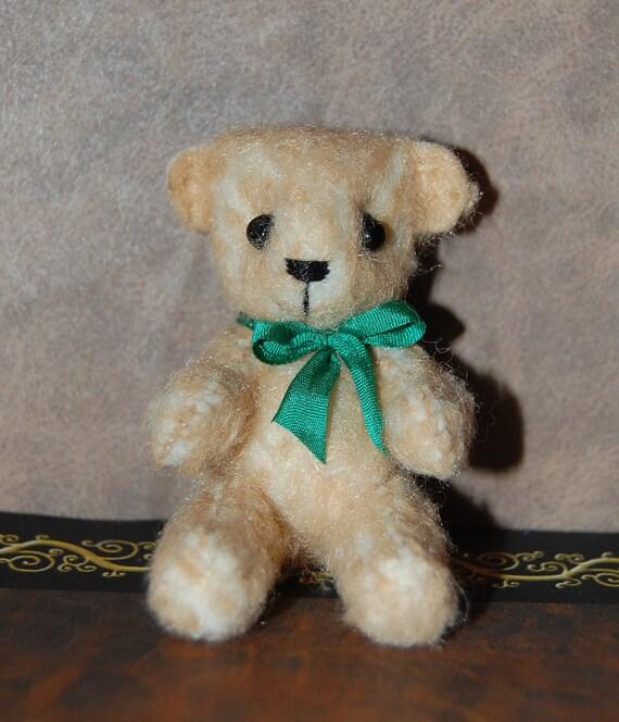 Miniature Fuzzy Felt Teddy Bear