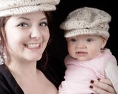 PDF Knitting Pattern Scally Cap Drivers Cap Newsboy Newborn Baby to Adult sizes Instant Download