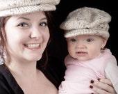 PDF Knitting Pattern Scally Cap Drivers Cap Newsboy Newborn Baby to Adult sizes Pattern 002