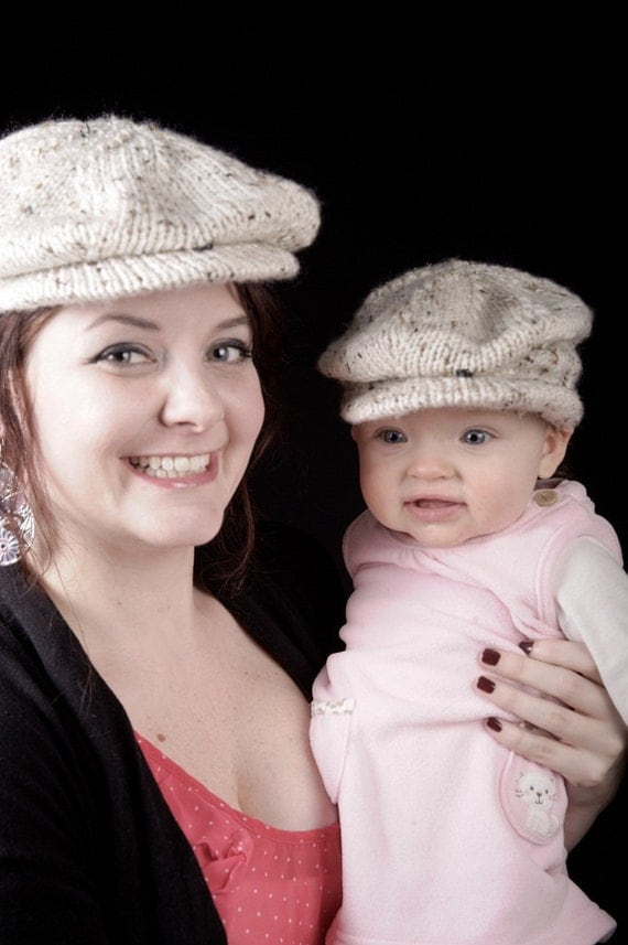 Knitting Pattern Baby Flat Hat : PDF Knitting Pattern Scally Cap Drivers Cap Newsboy Newborn