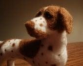 Artist Needle Felted English Pointer Sculpture Dog - Vivian