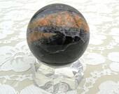 RESERVED Jupiter - Polished Jasper Sphere on Stand