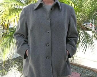 Gray Cashmere Jacket, sz 16W, like new