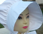 17th-18th century  Ladies bonnet / Pioneer / Historical / Costume / Reenactment