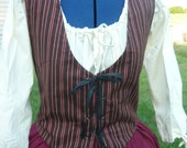 Bodice or vest  custom  made to your size. Renaissance / Pioneer / civil war / Historical /
