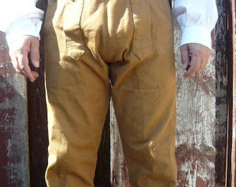 18th century  Fall Front Trouser. Reenactment. Colonial. Civil war. Pioneer