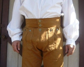 17th 18th century  Fall Front Trouser//Breeches // Knee Breeches // Reenactment. Colonial. Civil war. Pioneer