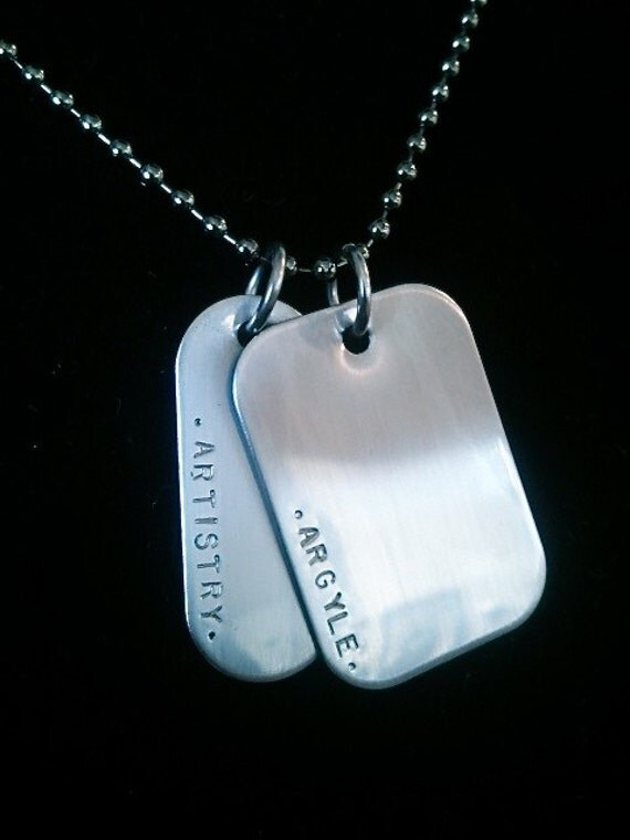 Custom Personalized - Feminine Stainless Dog Tags-  Cool and Trendy-Whats your message