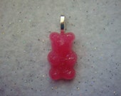 Gummi Bear, Gummy Bear, Necklace, Pendant, Handmade, Resin
