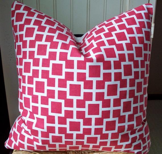 """Pink Pillow Cover SALE PILLOW PINK Robert Allen Pillow Set of 2 Designer fabric 18""""    00, 4-18m"""