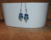 Cool Blue Faceted earrings