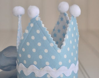Little Prince Reversable Newborn Fabric Crown, Photography Prop, Special Occasion