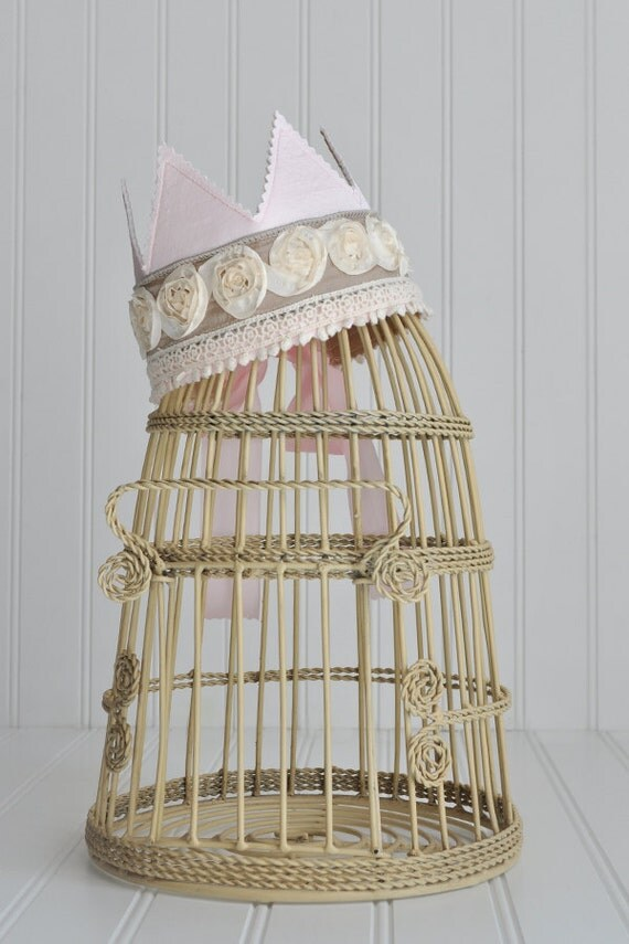 New Item...  Shabby Chic Princess Crown Birthday, Photo Prop, Special Occasions
