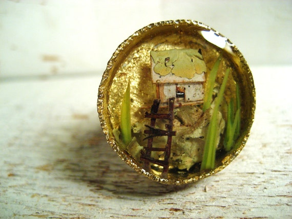 Birch Bark Tree House Ring no. 2