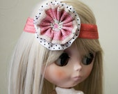 Pink and Dots Blythe Headband