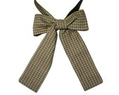 Houndstooth neckerchief bow tie, ascot tie cravat