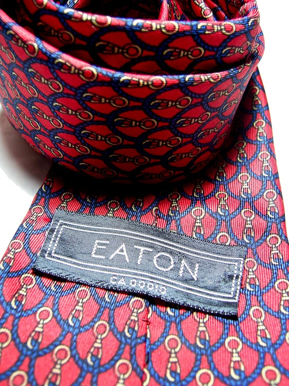 Vintage silk tie, nautical rope and hook