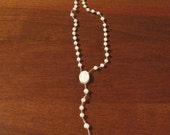 Vintage White Rosary Beads 1970s