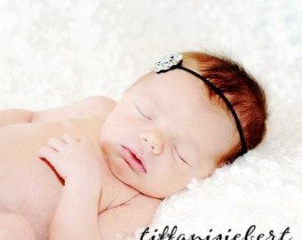 BEJEWELED Headband..Baby Headband..Newborn Baby Girl Photo Prop..Baby Girl Rhinestone Headband..Infant Headband..Photoprop