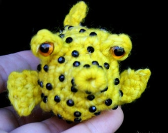 Cubicus the Boxfish Crochet Pattern Amigurumi