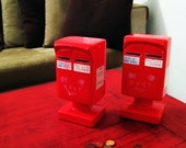 Vintage Modern RED Japanese Mail Banks
