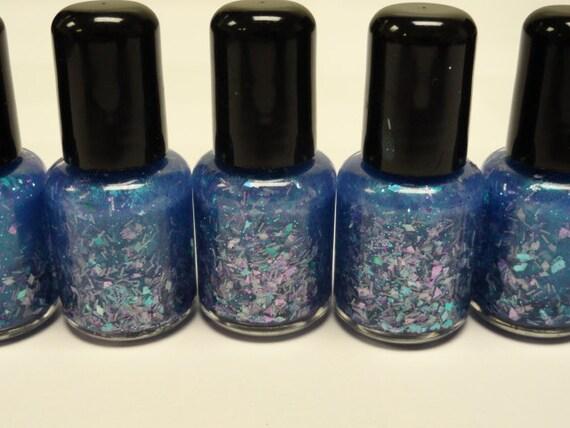 MINI Abyss Nail Polish Lacquer Blue to Green Color Shift Gliiter