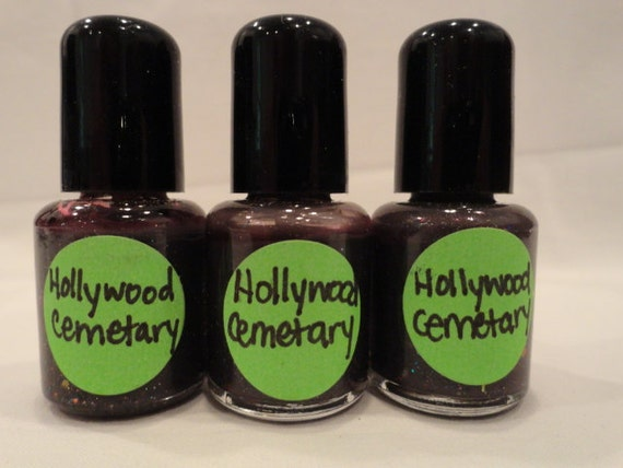 Old School Hollywood Cemetary Nail Polish Pink Black Multi Glitter Holographic Frankenpolish