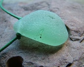 Sea Glass Necklace in Pastel Green