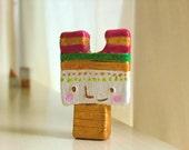 Clay Figures Gold OOAK  - Creativity