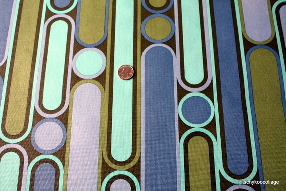1970's Vintage Wallpaper Cool Geometric Cirlcles
