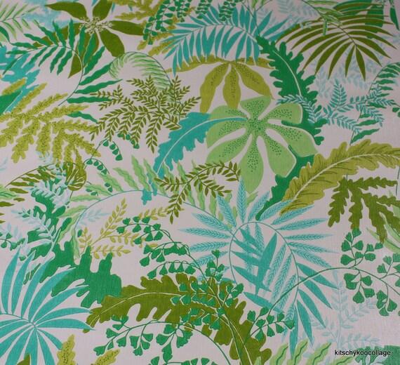 1970 s Vintage W...1970s Wallpaper Green Leaves