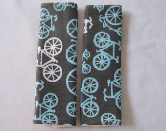 Blue Bikes Car Seat Strap Covers
