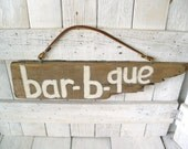 Rustic sign barn wood barbecue porch deck