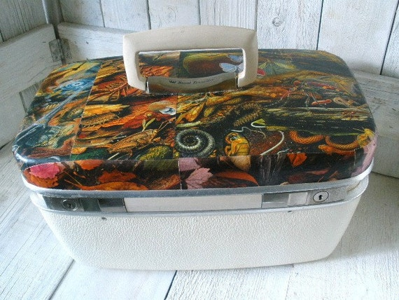 Vintage train case strange creatures swamp