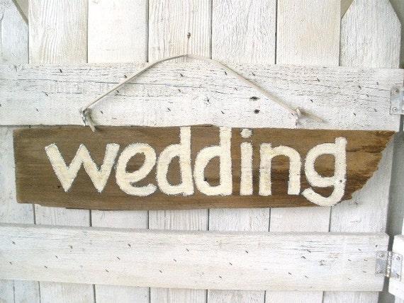Rustic wedding sign barn wood