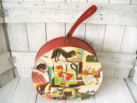 Vintage carry-on case Little Red Riding Hood