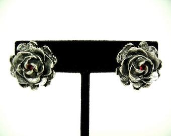 Large Rose earrings