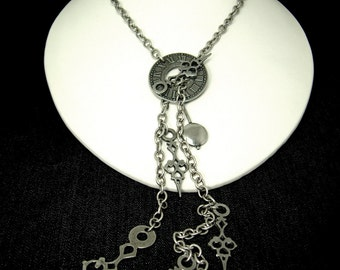 Deconstructed Clock Necklace